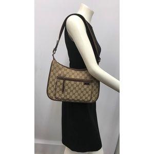 Gucci GG Logo Brown Bag